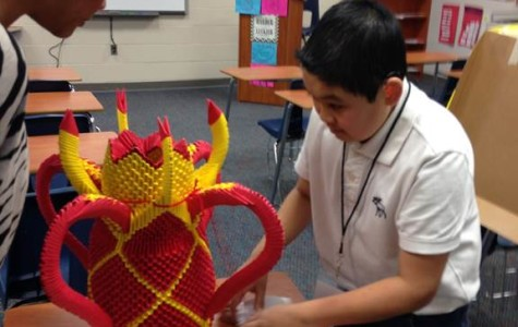 Senior Anfernee Cao is going to the state competition after receiving a top rating on his paper sculpture. Cao was born blind and deaf, and he had to complete his project all on his own.