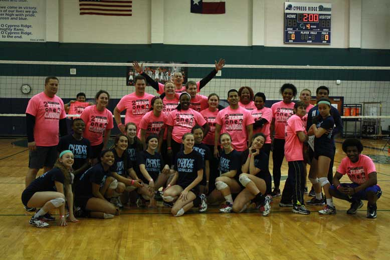 Faculty and students face off in volleyball game