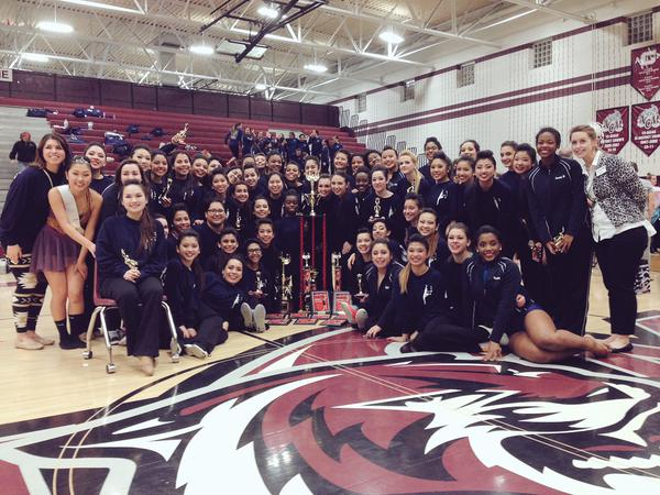 """The Cy-Ridge Dazzlers drill team won Grand Champion """"Super"""" team at Showtime International's College Station Dance Classic contest."""
