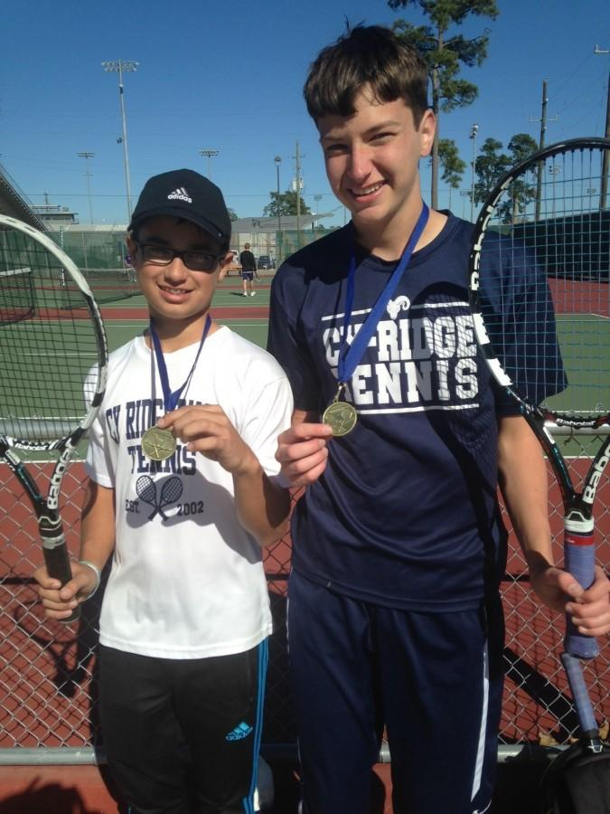 Ryan Criswell and Conner Wallis placed 1st in the boys doubles at Klein tournament.