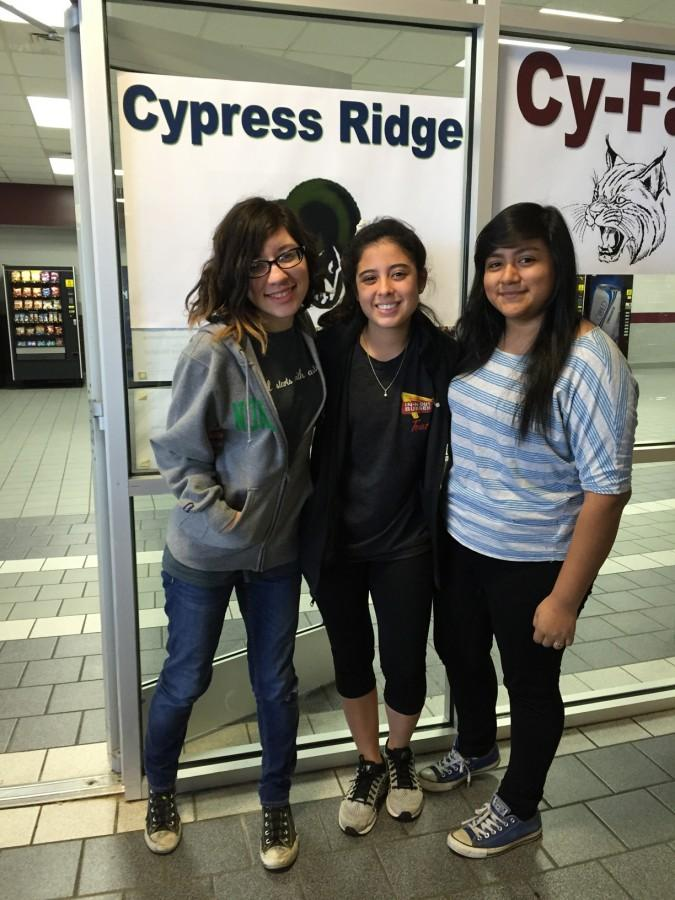 Circe Marez, Carly Gutierrez and Lizeth Gonzalez all competed in the district level of journalism UIL.