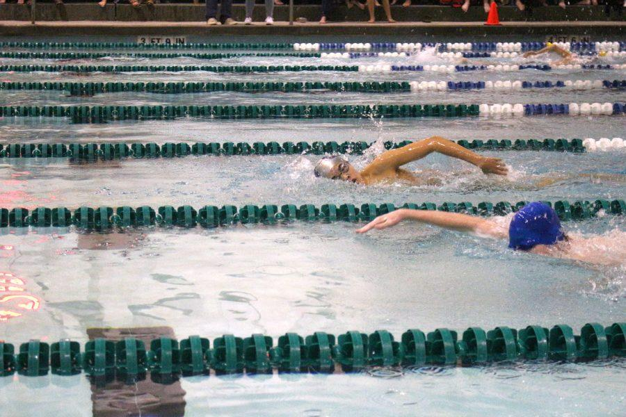 Rams edge out competition at Oct. 28 swim meet.