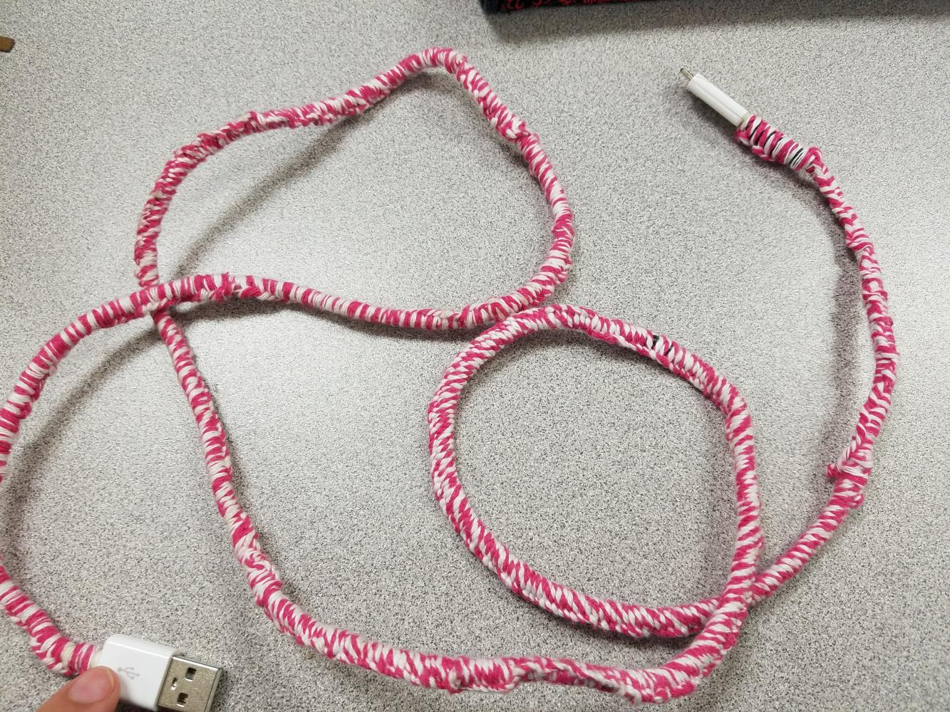 diy charger cord protector
