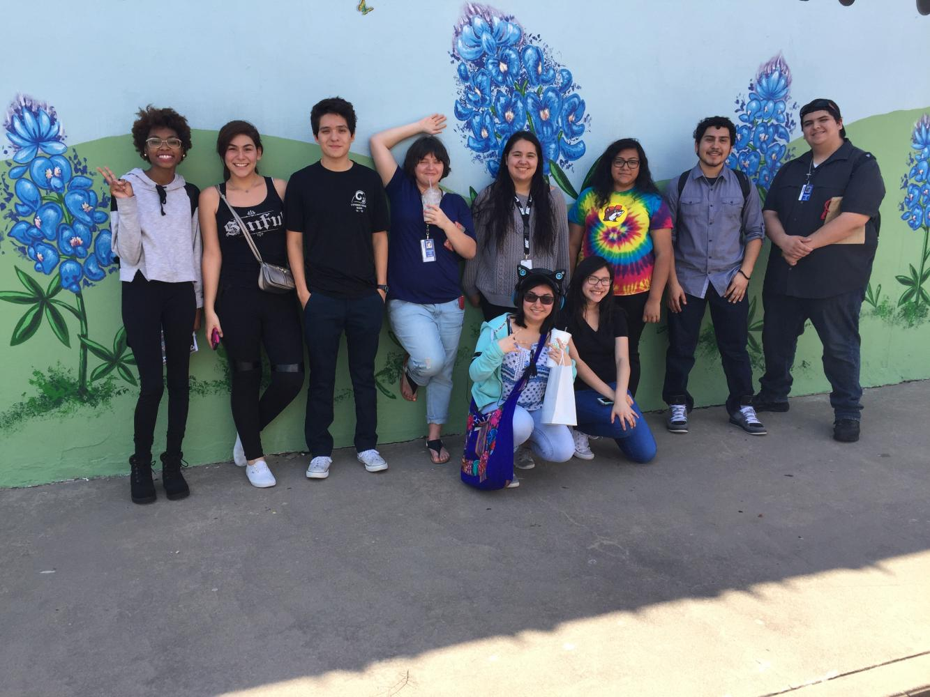 CRHS Press students attend the ILPC state journalism convention in Austin April 22-23. Pictured (standing) are: Jassmen King, Jennifer Rodriguez, Jonathan Estrada, Ashley Rowe, Hailey Procter, Lizeth Gonzalez, Rodrigo Rojas and Luis Duque; and (kneeling) Dominique Escobar and Gabriela Rodriguez.