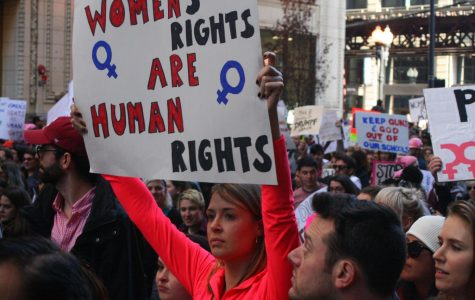 Women from across the nation come together to show the women's rights are important.