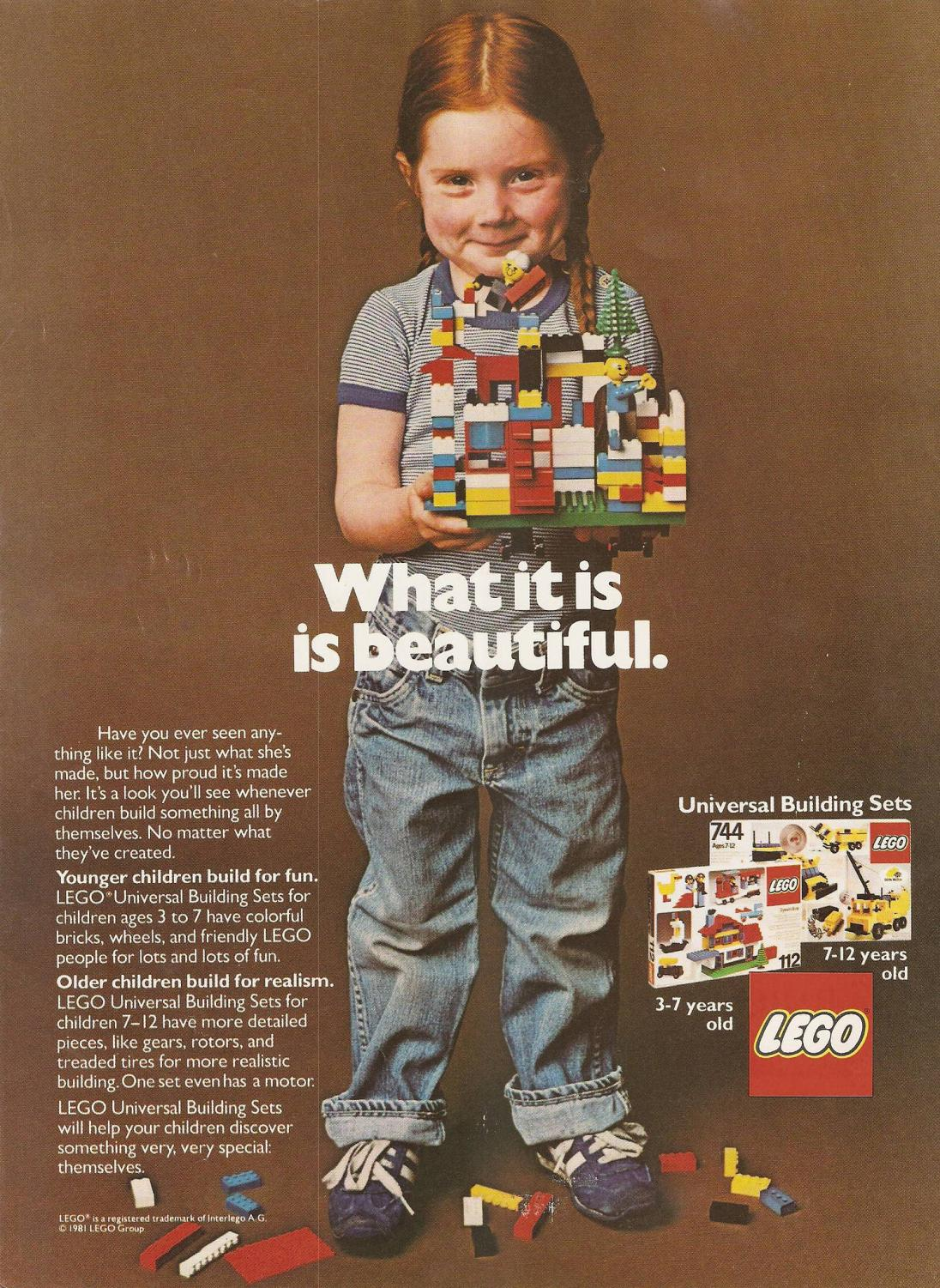 This 1970s LEGO ad did not appeal to gender roles.
