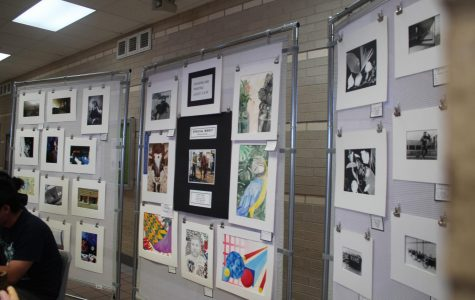 Feature of art pieces for the elective fair for art classes