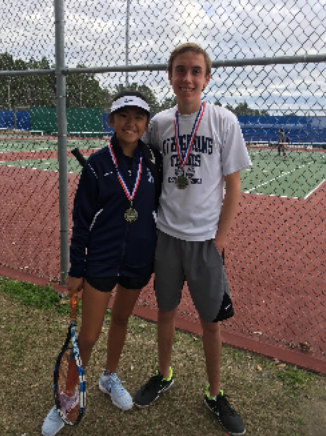 Allyson Songvilay and Luis Powers after a match.