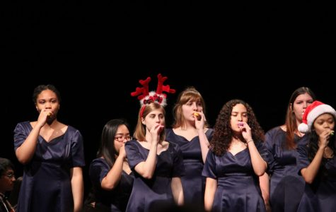 Varsity Choir performing at the Fifth Grade Recruitment concert on Dec. 14.