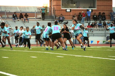 Juniors and Seniors battle it out in the annual Powder Puff game. In the end the score favored class of 2018!