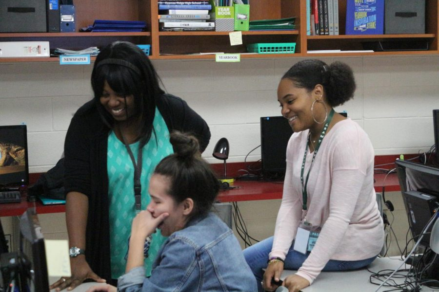 With journalism being the root of the class, the students were able to come together to create a yearbook and newspaper.
