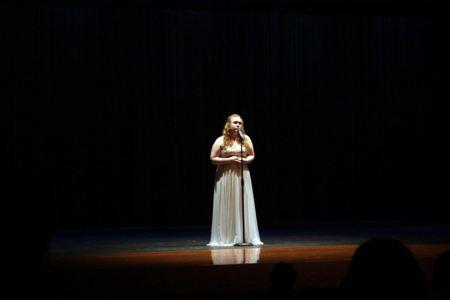 Rams show their talent by performing a variety of acts during the talent show.