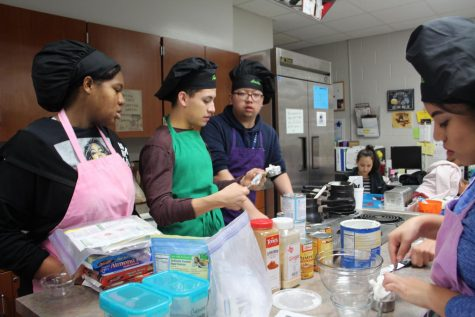 The culinary students at Cypress Ridge won first place at the Culinary Baking Competition for best cake design.