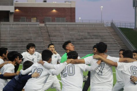 After winning majority of the district games, the men's soccer team advanced to both first and second rounds of playoffs, before losing to Tompkins on the second round.