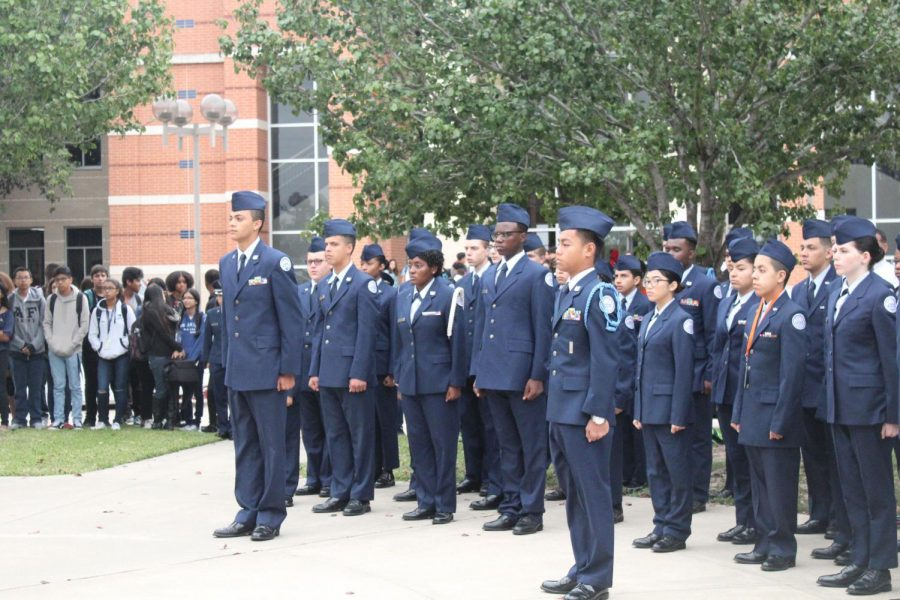 ROTC+students+learn+the+value+of+respect+and+teamwork.+