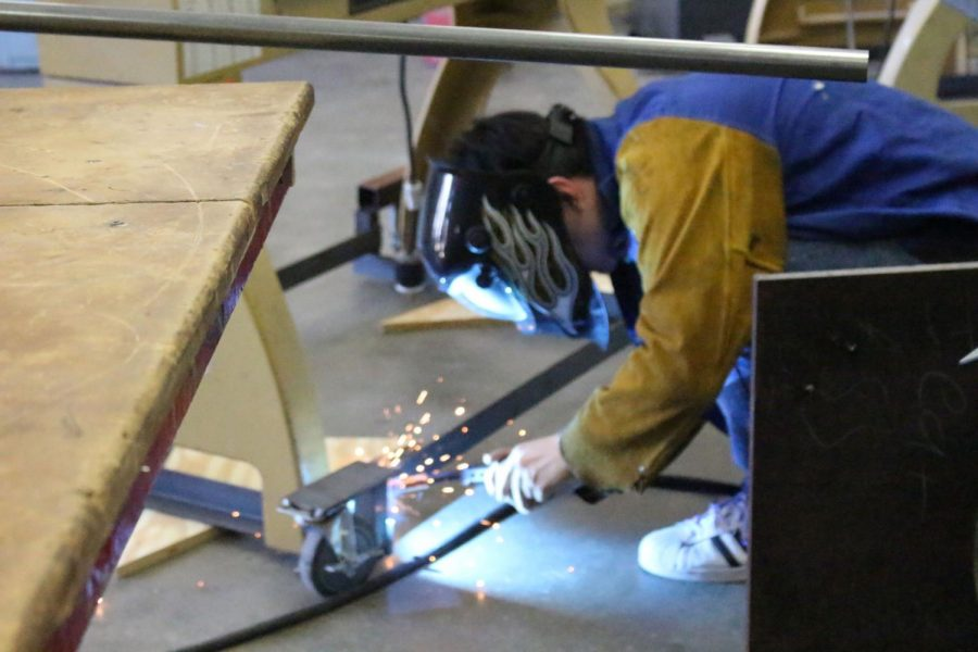 The students in wood shop and Auto tech worked on different projects through the year.
