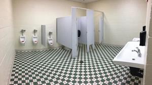 An inside look to the boys school bathroom